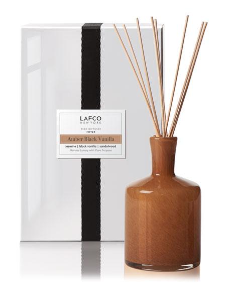 Lafco Amber Black Vanilla Reed Diffuser – Foyer, 15 oz./ 444 mL