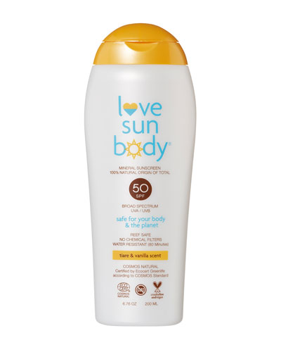 Love Sun Body 100% Natural Origin Mineral Sunscreen SPF 50 Lightly Scented ...