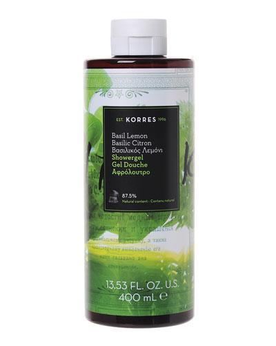 Basil Lemon Shower Gel, 14 oz./ 400 mL