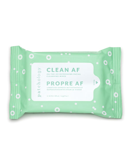 Patchology Clean AF Facial Cleansing Wipes, 15 Count