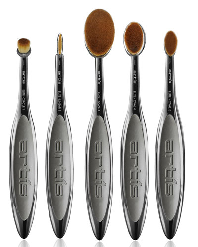 Elite Smoke 5 Makeup Brush Set