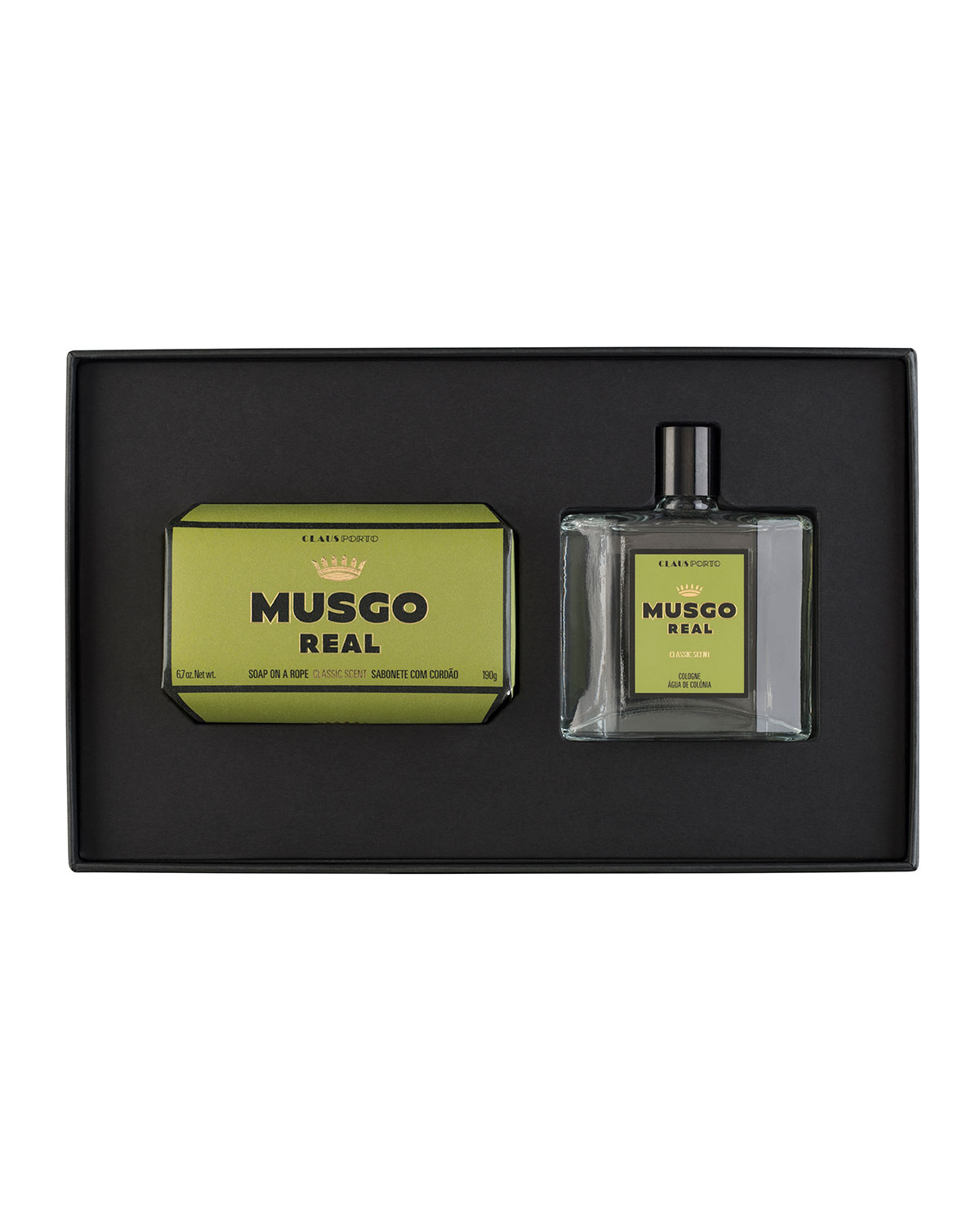 MUSGO REAL Gift Set (Soap On A Rope & Cologne) - Classic Scent