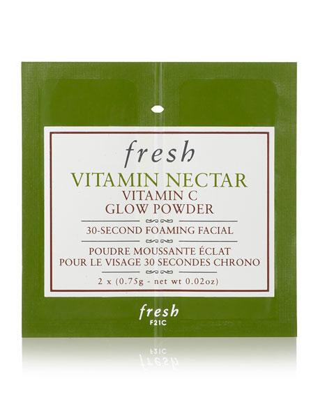 Fresh Vitamin Nectar Vitamin C Glow Powder 30-Second Foaming Facial, 12 Packets