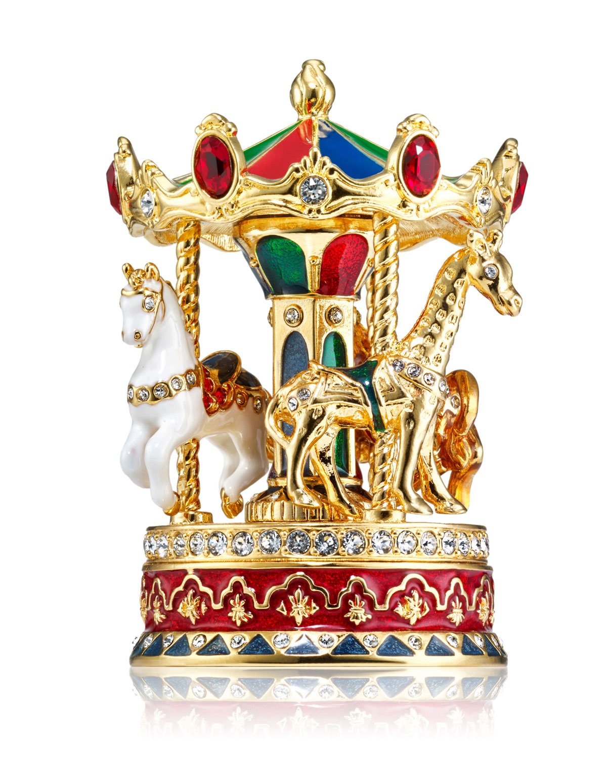 Beautiful Carousel Perfume Compact
