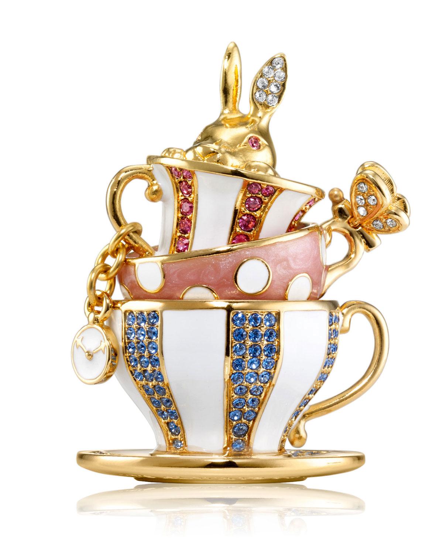 Beautiful Wonderland Tea Party Perfume Compact by Monica Rich Kosann