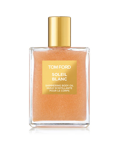 Soleil Blanc Rose Gold Shimmering Body Oil, 3.4 oz./ 100 mL