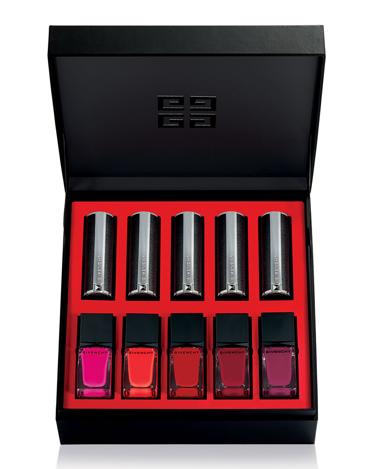 Color Box Lipstick + Nail Polish Set, Red Collection