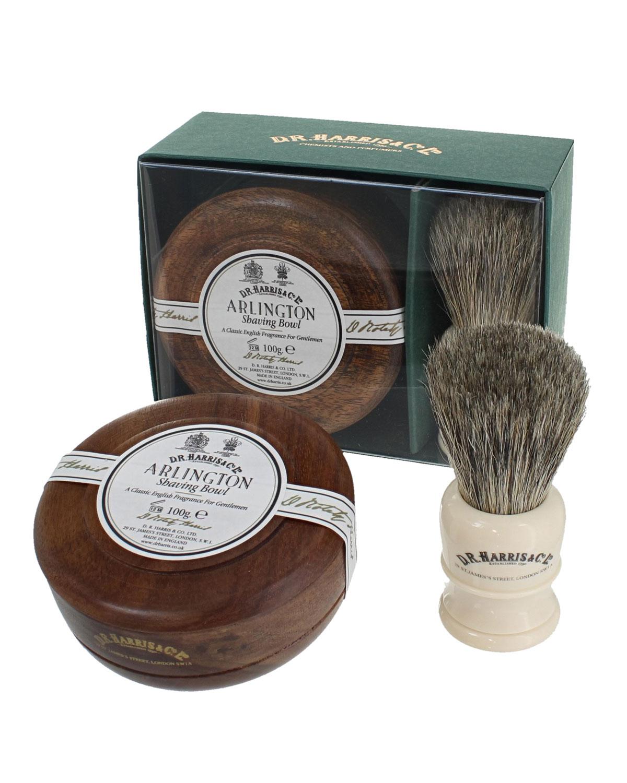 D.R. HARRIS & CO. Arlington Mahogany Gift Set (Bowl + Brush)