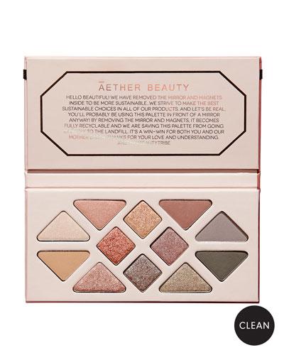 Rose Quartz Crystal Gemstone Makeup Palette