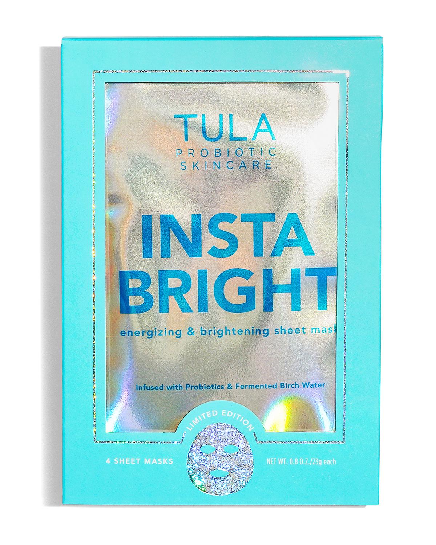 TULA Insta Bright Sheet Mask, 4 Pack
