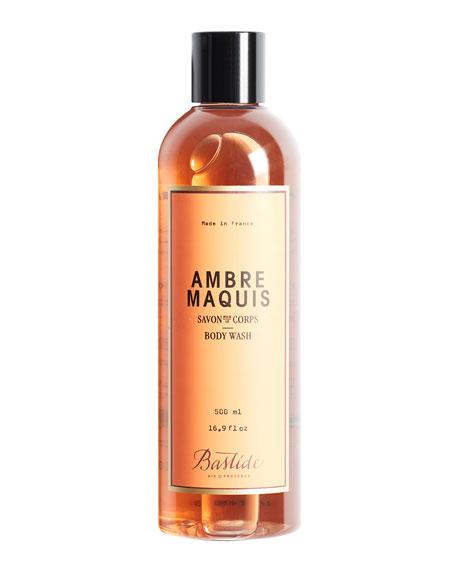 Bastide Ambre Maquis Body Wash, 17 oz./ 500 mL