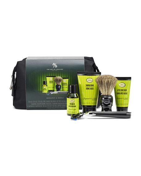 The Art of Shaving Travel Shaving Kit With Morris Park Razor, Bergamot & Neroli