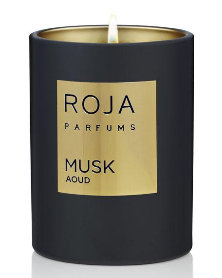 Roja Parfums Musk Aoud Candle, 7.8 oz./ 220 g