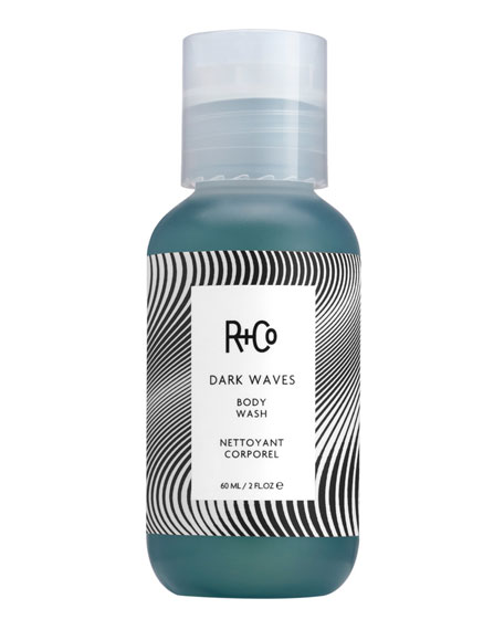 R+Co Travel Dark Waves Body Wash, 2 oz.