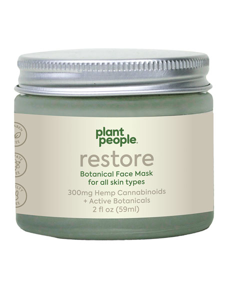 Plant People 2 oz. Restore Botanical Face Mask with Hemp Cannabinoids
