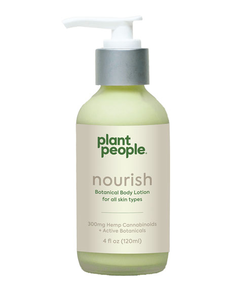 Plant People 4 oz. Nourish Botanical Body Lotion with Hemp Cannabinoids