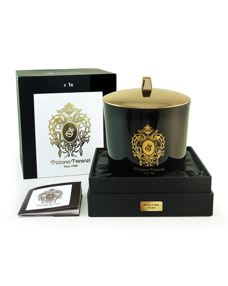 Tiziana Terenzi 17.6 oz. Ebony and Teck Black Maxi Glass Candle