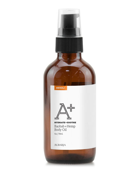 Agraria Neroli A+ Baobab + Hemp Body Oil, 4 oz./ 118 mL