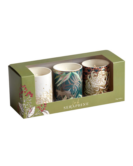 L'or de Seraphine Assorted Small Candle Gift Set, 3 x 2.65 oz.