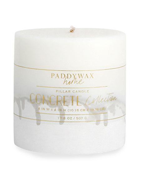 "Paddywax Concrete Pillar Candle, 4"" x 4"""