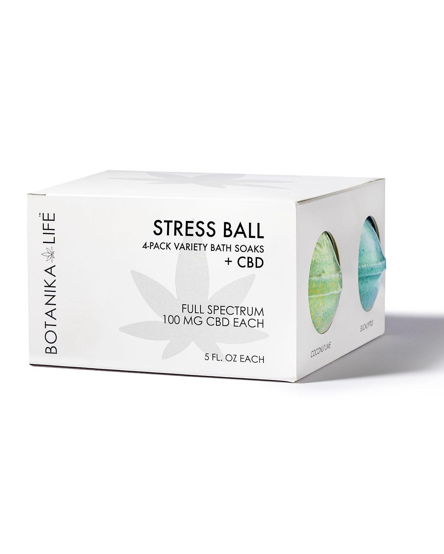 CBD Stress Ball 4-Pack Variety Bath Soaks
