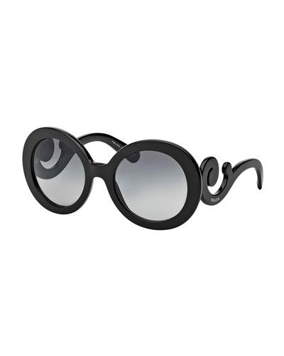 Baroque Sunglasses, Black