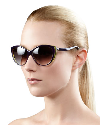 Cat-Eye Sunglasses, Violet
