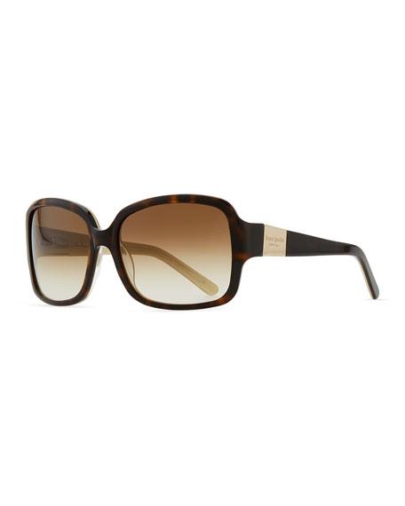 kate spade new york lulu square sunglasses