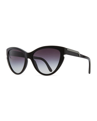 Cat-Eye Sunglasses, Black