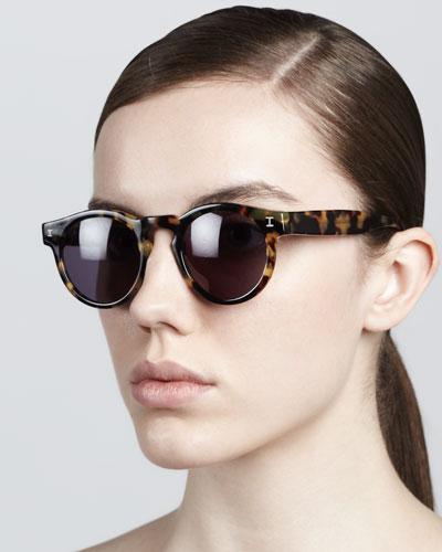 Leonard Round Sunglasses, Tortoise