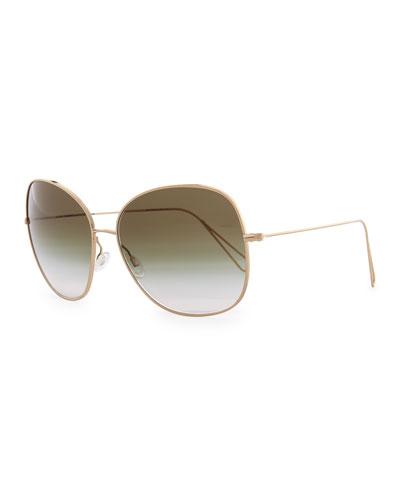 Isabel Marant par Oliver Peoples Daria 62 Oversized Sunglasses, Light ...