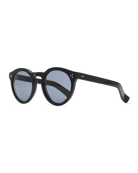 Illesteva Leonard II Round Sunglasses, Black