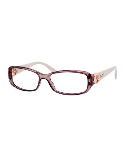 Rectangle Fashion Glasses, Mauve