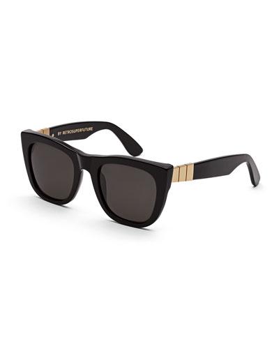 Gals Gianni Sunglasses, Black/Gold