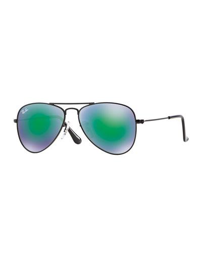 Children's Mirrored Metal Aviator Sunglasses