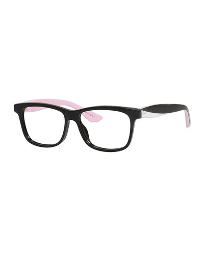 Tricolor Square Fashion Glasses
