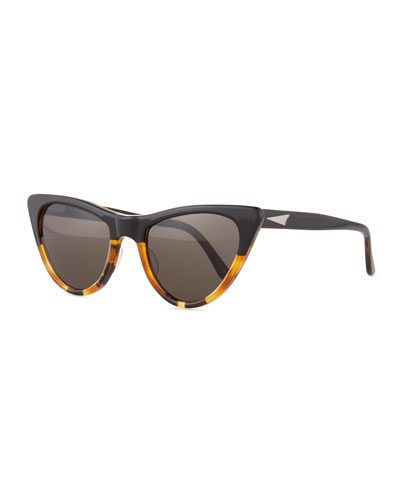 St. Louis Cat-Eye Sunglasses, Tortoise/Black
