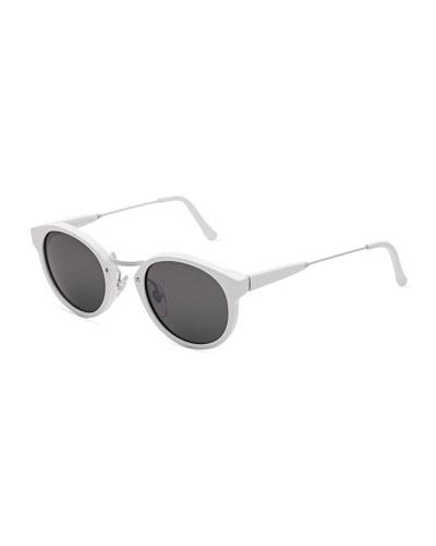 Panama Metric Cat-Eye Sunglasses, White