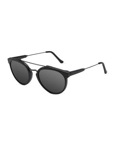 Giaguaro Mirrored Sunglasses, Black