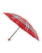Trafalgar Packable Check Umbrella, Parade Red Check