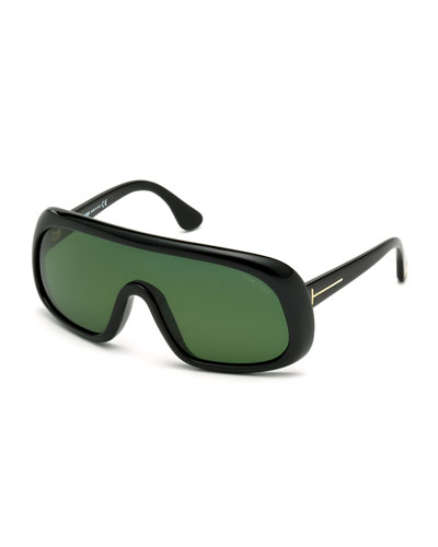 Sven Shield Sunglasses, Black