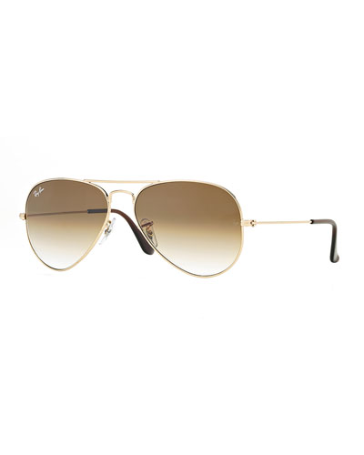 Gold Metal Frames Aviator Sunglasses | Neiman Marcus