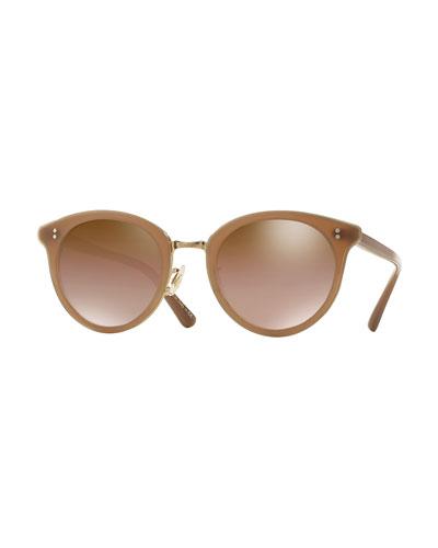 Limited Edition Spelman Sunglasses, Linen/Gold