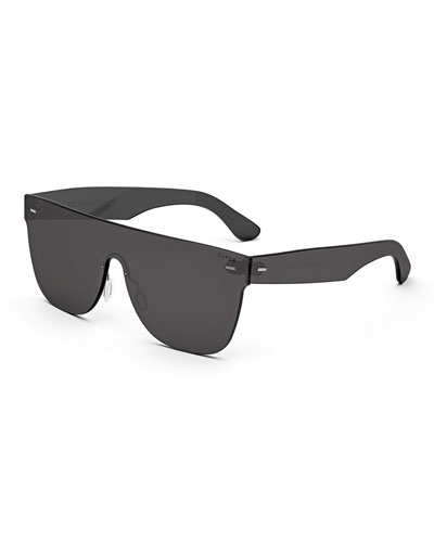 Tuttolente Flat Top Sunglasses, Black