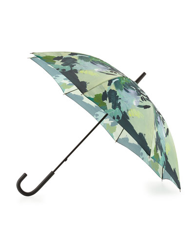 Original Botanical-Print Walker Bubble Umbrella, Botanical