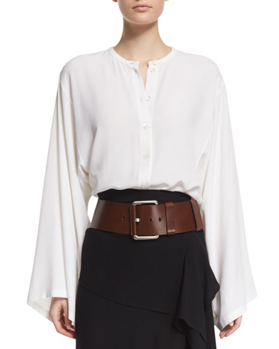 Wide Leather Hip Belt, Nutmeg