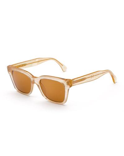 America Pool Square Sunglasses, Marbled Orange