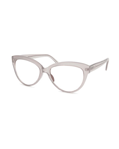 Portofino Cat-Eye Optical Frames, Taupe