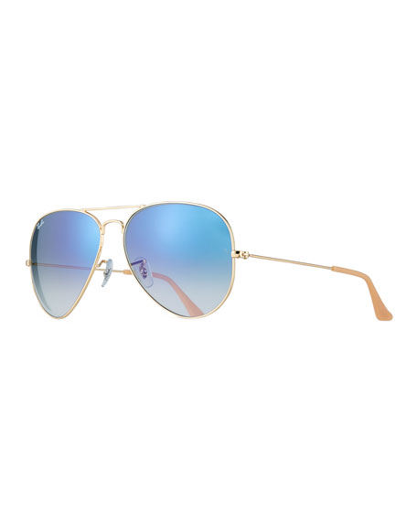 Ray-Ban Gradient Aviator Sunglasses, Golden/Blue