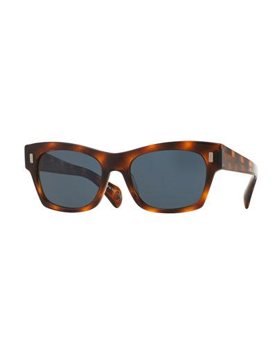 71st Street Square Sunglasses, Tortoise